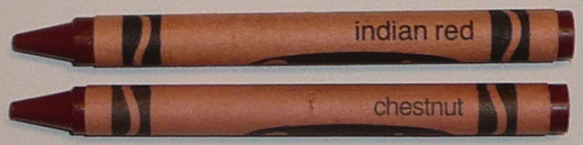 Indian Red Chestnut crayons