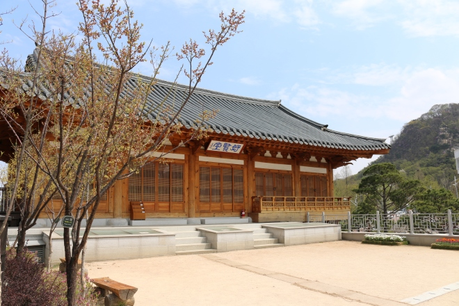Traditional Korean architecture in Namsan Park