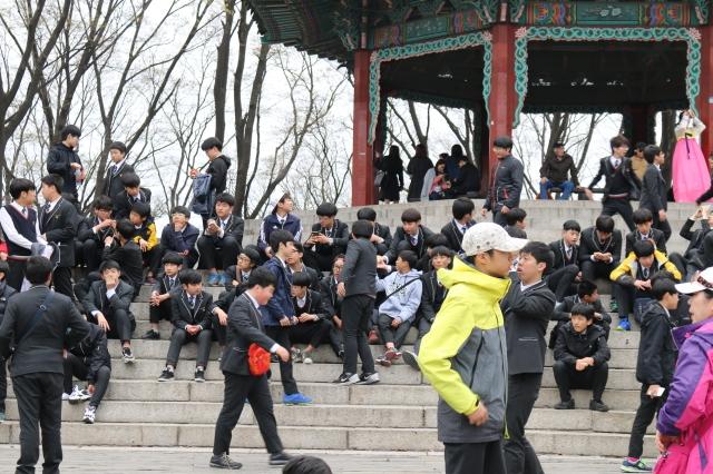 School trip to Namsan Park, Seoul