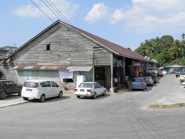 Wooden shophouses at Kg Tenghilan, Sabah