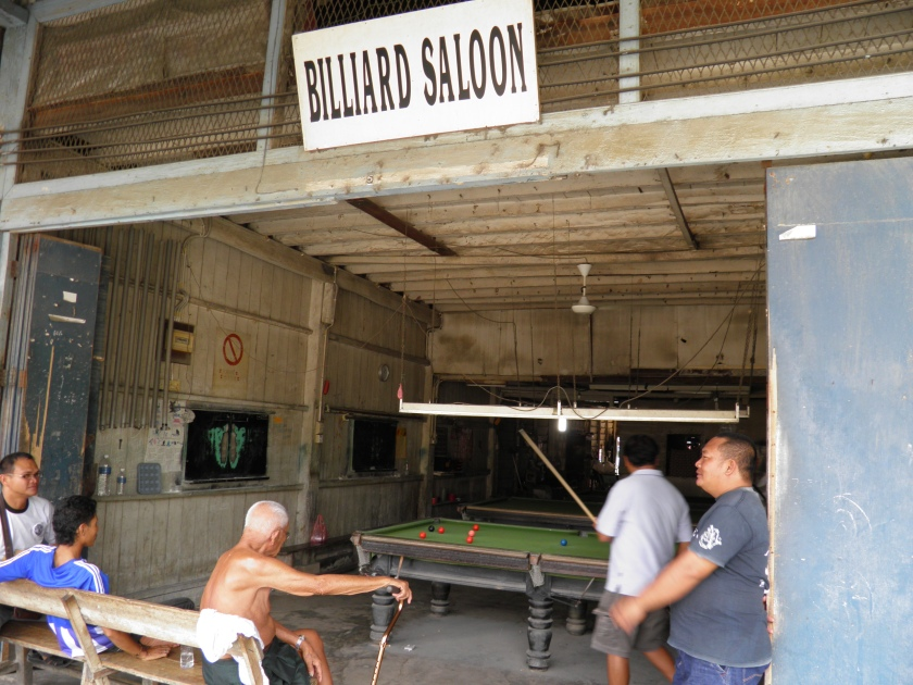Snooker match at Tenghilan, Sabah