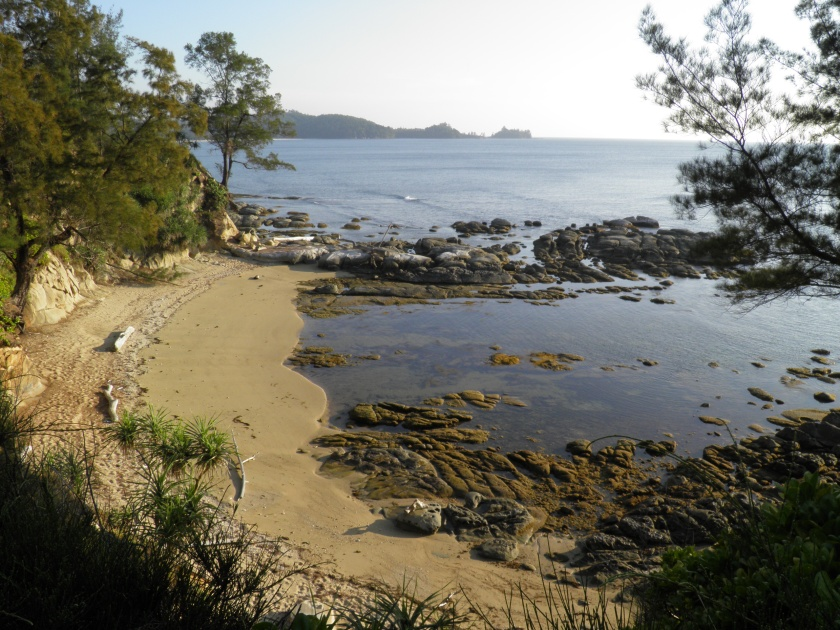Sheltered Cove at Tip of Borneo