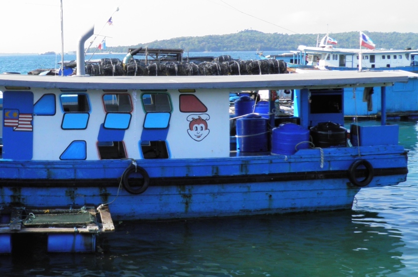 Jollibee Logo on Malaysian Fishing Boat