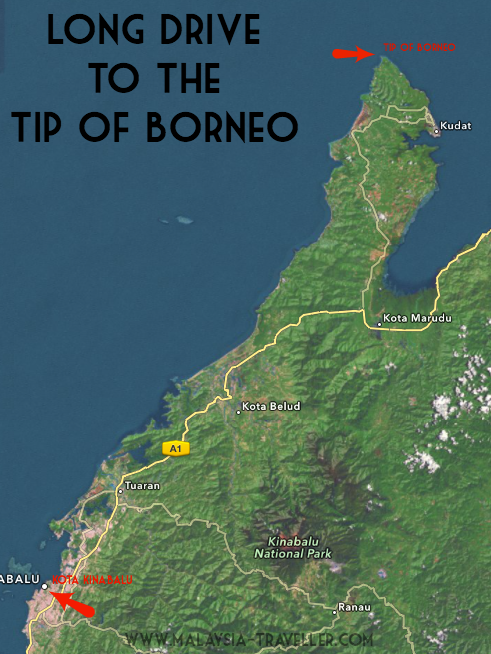 Tip of Borneo Map