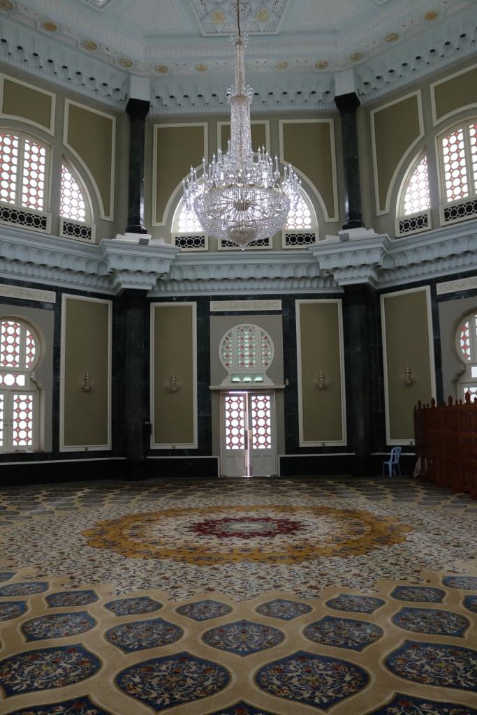 Woollen Persian carpet at Ubudiah Mosque