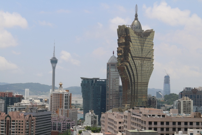 Grand Lisboa and Macau skyline