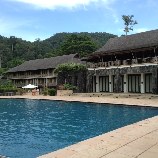 The main pool at The Datai is for over 16's only.  There's another pool next to the beach for families with kids .
