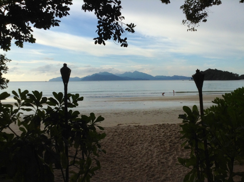 Datai Bay is off-limits to all except guests of The Datai Langkawi and the neighbouring Andaman resort. The island in the distance is Ko Tarutao (Thailand).