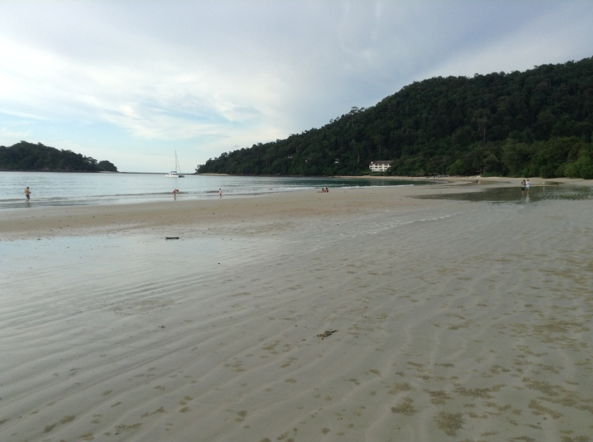 Plenty of space at Datai Beach.
