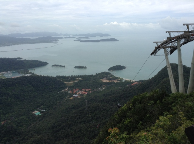 View from Langkawi SkyCab Middle Station.