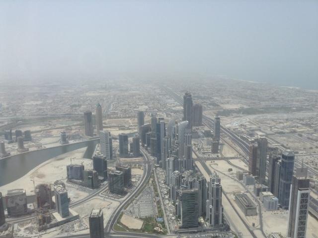 Even the Burj al Arab was barely visible through the haze.
