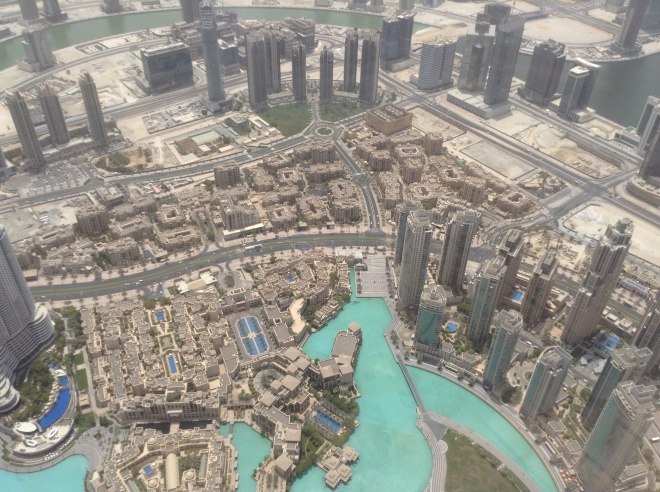 Birds eye view of 'Downtown Dubai'.