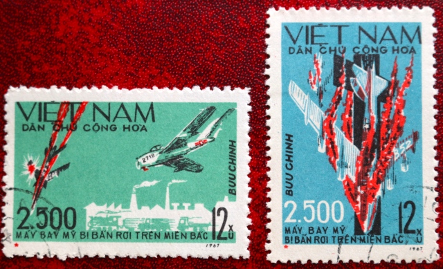 Later in 1967, the 2500th US aircraft to be shot down over North Vietnam was commemorated with these stamps.