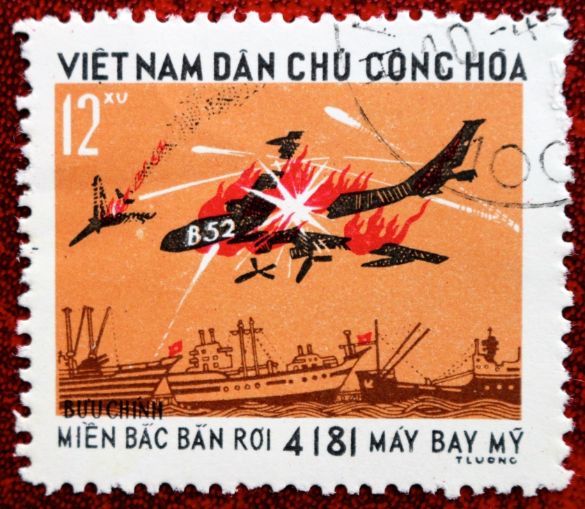 This 1973 stamp, one of a set of 4 called 'Victory Over US Airforce' claims a grand total of 4181 US Aircraft shot down  over North Vietnam .