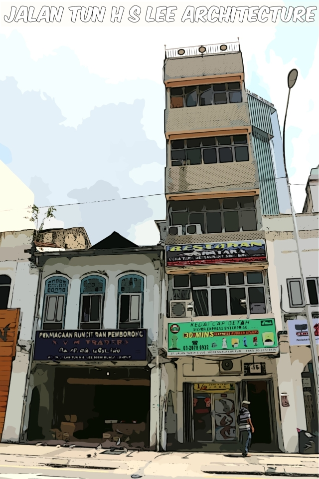 Old shophouses exist alongside modern towers. There's nothing twee about this street.