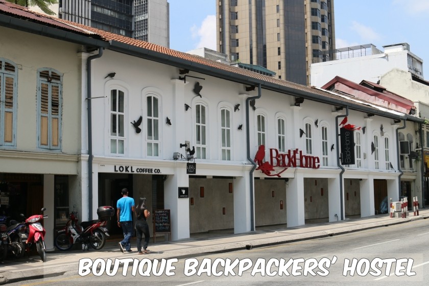 This row of six shophouses is thought to be one of the oldest in KL dating from the 1880's, with a roofline lower than its neighbours. It has had an award winning restoration and is now a boutique backpackers' hostel.
