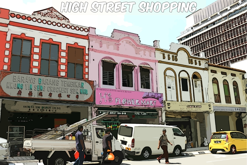 Whatever you want to buy, there's probably a shop selling it in Jalan Tun HS Lee.