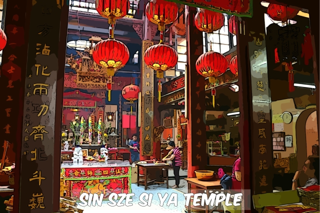 Sin Sze Si Ya Temple was founded in 1864 by Kapitan Yap Ah Loy and is dedicated to the deities Sin Sze Ya and Si Sze Ya.