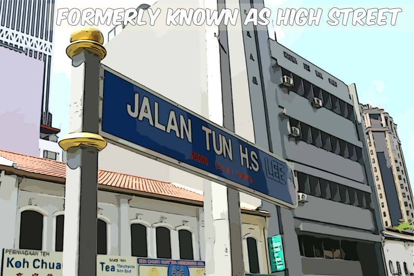 The street is named after Tun Sir Henry Lee Hau Shik, a former government minister. It runs from Jalan Gereja in the north (near the Telecom Museum) and finally peters out in an underpass beneath Jalan Kinabalu in the south.