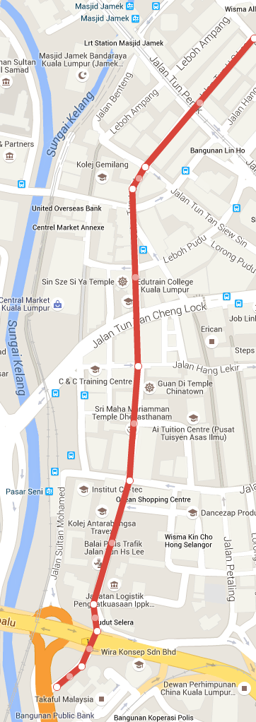 Map of Jalan Tun H S Lee, Kuala Lumpur