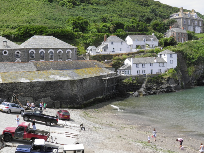 The beach at the quaint fishing village of Port Isaac. This scene may look familiar to fans of the TV series Doc Martin which was filmed here. Doc's house is the second from the right.