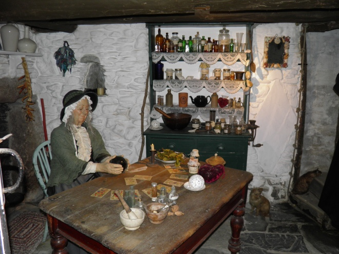 This old lady working at the Witchcraft Museum looked friendly but she wouldn't answer our questions.