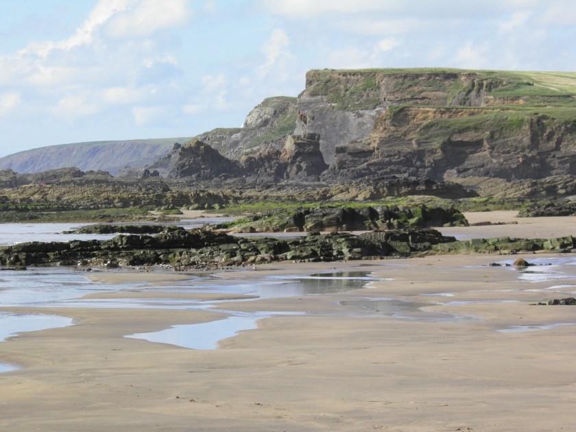 The beach at Bude.