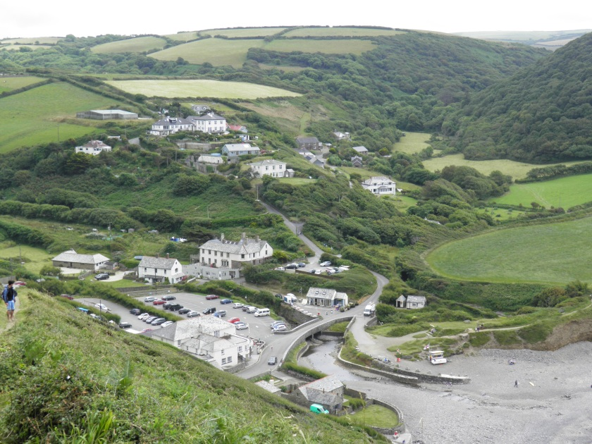 The village of Crackington Haven is tiny but has a pub, a tea room and a shop.