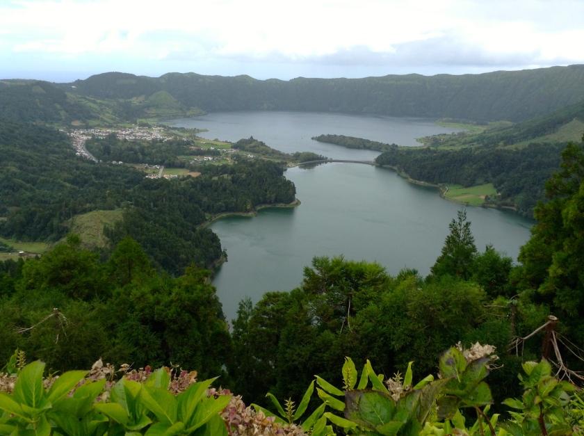Sete Cidades crater lakes.