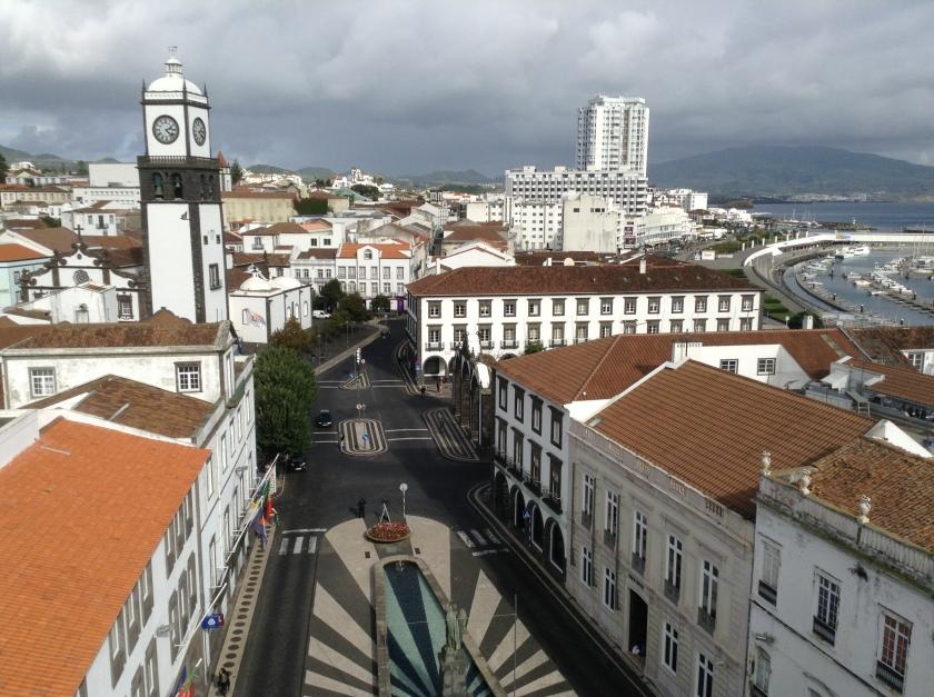 View of downtown Ponta Delgada.