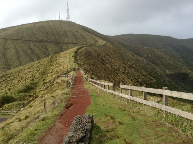 It was way too cold and windy for us to attempt hiking round the crater rim.  Proper clothing required!