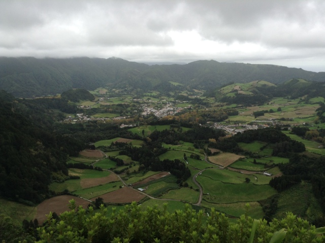 View of Furnas town from Pico do Ferro viewpoint.