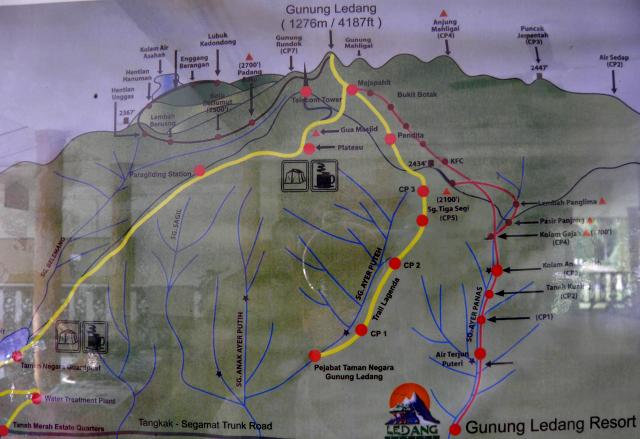 Map of Gunung Ledang