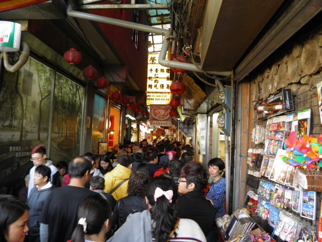 Jiufen Old Street Packed With Tourists