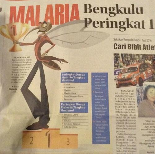 Bengkulu's malaria problem