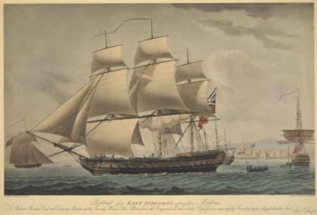 East Indiaman sailing from Madras Painted and engraved by R. Dodd. Published in London, 1797