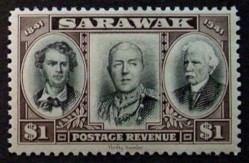 White-Rajahs-Of-Sarawak-Stamp