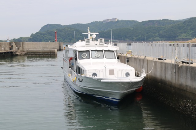 'Laputa', one of the ferries from Kada to Tomogashima.