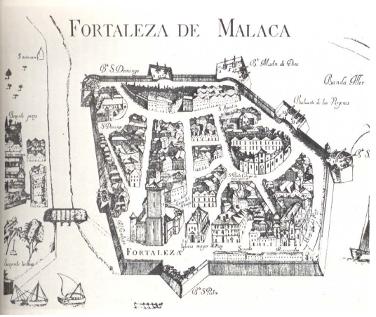 Plan of the Portuguese Fortress in 1512