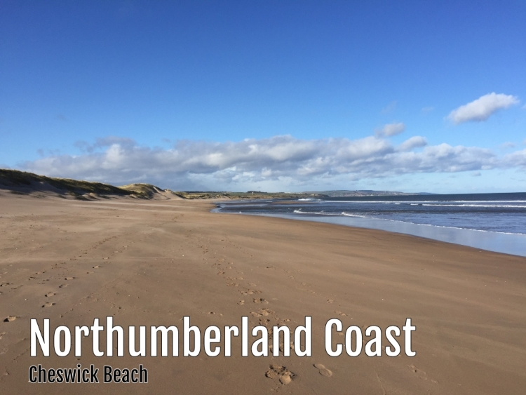 Cheswick Beach on the Northumberland Coast